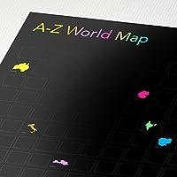 The World A-Z - Länder-Scratch-Poster von Awesome Maps