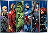 Marvel Avengers - Wallsticker Warehouse - Fototapete - Tapete - Fotomural - Mural Wandbild - (964WM) - XL - 208cm x 146cm - VLIES (EasyInstall) - 2 Pieces