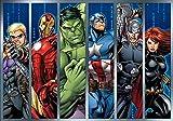 Marvel Avengers - Wallsticker Warehouse - Fototapete - Tapete - Fotomural - Mural Wandbild - (964WM) - XL - 208cm x 146cm - VLIES (EasyInstall) - 2 Pieces