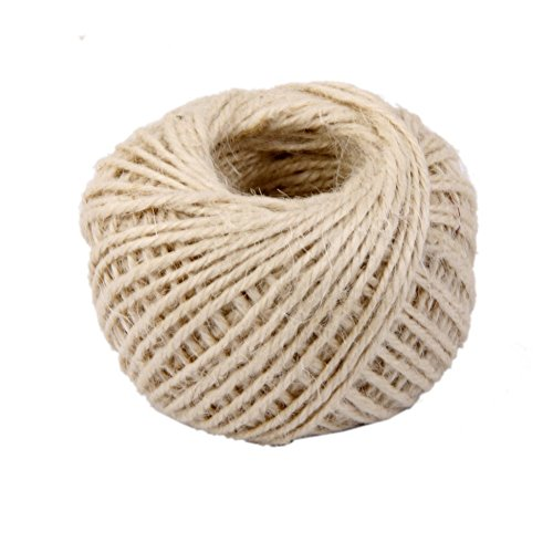 Drawihi DIY Bastelschnur Jute Seil Gartenschnur Hanf Seil für Crafts Arts und Gardening Dekoration (Beige) 50m*2mm