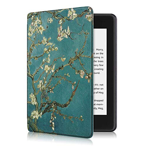 ProElite Slim Smart Flip case Cover for All Amazon Kindle 10th Generation 2019 [Flowers]  Not Fit Paperwhite