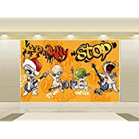 Yosot Papel Tapiz Mural Personalizado Kids Room 3D Photo Papel Pintado Guitar Hero Cartoon 3D Sala