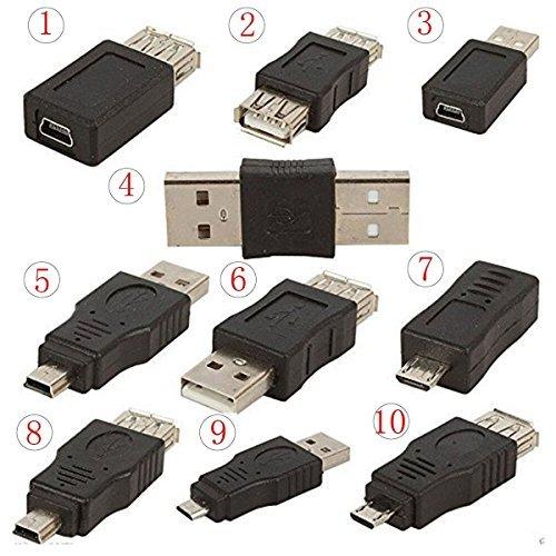 OTG 5 poliger F / M Wechsler Adapter Konverter USB Stecker Zum Weiblichen Mikro Ministecker für Computer Tablet PC Handy (Weiblichen Adapter-konverter-wechsler)