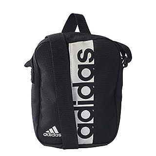 adidas Unisex's Linear Performance Organizer Shoulder Bag, Black/White, 22 x 17 x 5 cm