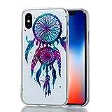 iPhone X Hülle,iPhone X Schutzhülle,TOYYM Ultra Dünn Bling Muster Kristall Durchsichtig Flexibel...