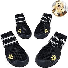 DUPET Botas de perro Paws Protector Impermeable Zapatos de perro Snoe Botas Zapatos con Tiras Reflectantes MlzKUq8