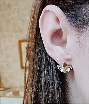 Boucles d'oreilles aztèque - puces Ethnique - Boucles d'oreilles Cuzco en plaqué Or