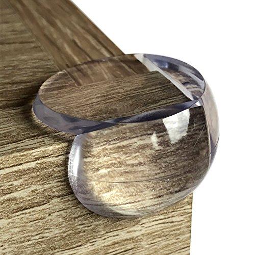 Happylittlefoxxes Premium Eckenschutz für Möbel oder Kantenschutz für Tische. Schützt Babys und Kinder vor gefährlichen Ecken, transparent, 12er Set