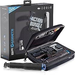 Sp Gadgets Action Bundle - Maleta de protection y un brazo telescópico para fijar GoPro, Negro