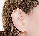 Helix Earring 16 Gauge Gold Filled Seamless Hoop Piercing