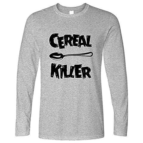 Cereal Killer Löffel Lustige Frühstück Speisen, Humor, Slogan Chef Langarmshirt
