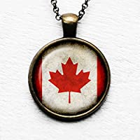 Canada Canadian Kanada Kanadische Flagge Anhänger und Halskette