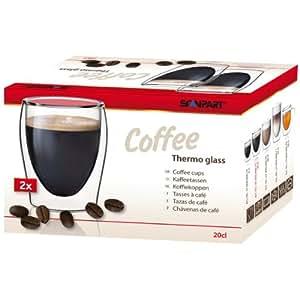Scanpart 2790000075 Doppelwandiges Thermoglas Kaffee 2-er Set