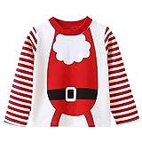 i-uend Weihnachten Baby Tops - Todder Kid Baby Girl Boy Weihnachten Print gestreiftes Top Sweatshirt Kleidung Pullover für 2-8 Jahre