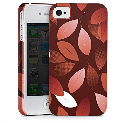 Apple iPhone SE Hülle Case Handyhülle Herbst Blätter Bronze Premium Case glänzend