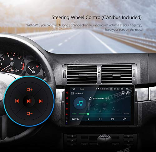 XTRONS-9-Autoradio-mit-Touch-Screen-Android-90-Quad-Core-Multimedia-Player-Autostereo-untersttzt-4G-WiFi-Bluetooth50-Auto-Musik-Streaming-2GB-16GB-DAB-OBD2-FR-BMWRoverMG