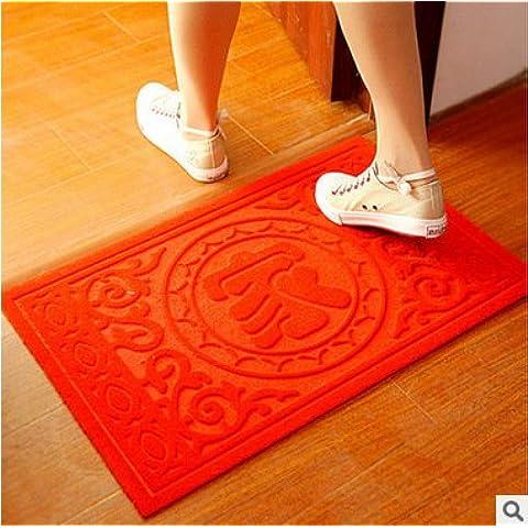 LINDONG-La porta delle famiglie del tappeto di pad nella porta sui piedi della polvere ha una parte antiscivolo in PVC ad anello di filo zerbino commercio all'ingrosso , godere di pace 40*60,45*70