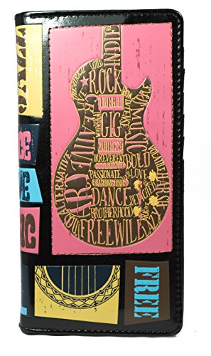 Shagwear portafoglio per giovani donne , Large Purse : Diversi colori e design: Festival musicale / Music Festival Black