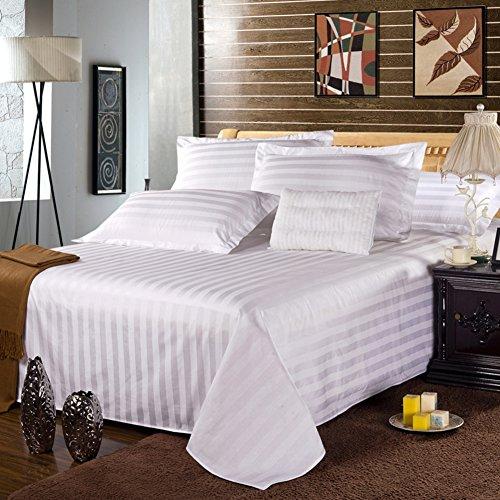 Fogli Hotel di puro cotone bianco/Lenzuola di cotone di one