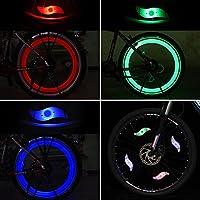 Tagvo 4pcs luz de radiodifusión de la bici (rojo + verde + azul + Multicolor), instalación fácil rueda luces del rayo para ambos adultos Bicicleta de los ...