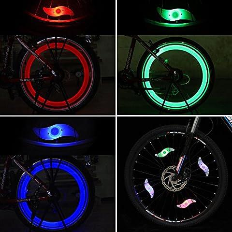 Tagvo 4pcs Bike Spoke Light (Red + Green + Blue