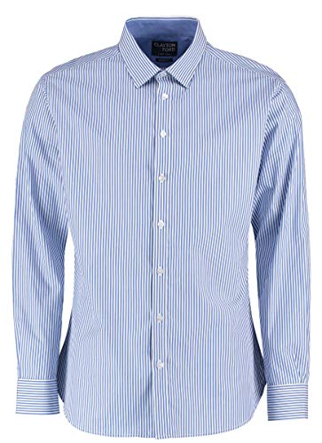 Clayton & Ford Bengal Stripe Shirt Gr. XXL, Mid Blue/White -