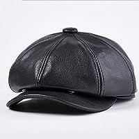 Ying xinguang Sombrero de Piel de Vaca Sombrero de Cuero de Invierno Gorra  de Soltera para fc6ec3c62ade