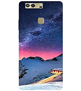 Mountain, Multicolor, Home , Amazing Pattern, Printed Designer Back Case Cover for Huawei P9 Plus