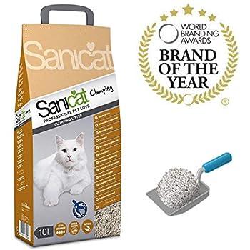 Sanicat Litière agglomérante Chat Sable - 10 l