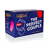 Gifffted Mr Right e Mrs Always Right Coppia di Bicchieri da Vino, Idee Regali Anniversario di Matrimonio, Donna, Regalo Divertente per Gli Sposi, Valentino e Natale, Genitori, Set di 2, 380 ml