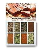 Berner Honiglebkuchen – 8 Gewürze für Honiglebkuchen (46g) – in einem schönen Holzkästchen – mit Rezept und Einkaufsliste – Geschenkidee für Feinschmecker – von Feuer & Glas