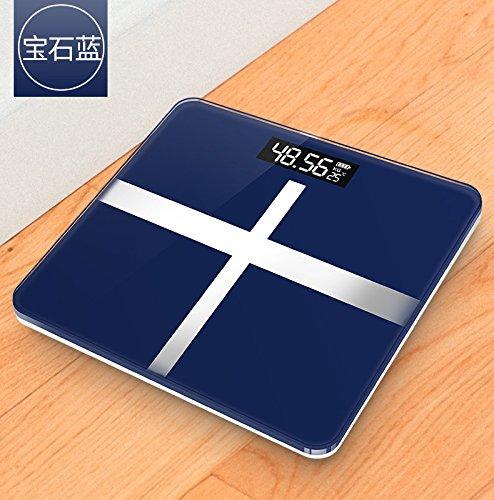 Zhangtianshi Digitale Personenwaageelektronische Gewichts-Skalen Elektronische Gewichts-Skalen Erwachsene Gesunde Körper Skalen, Blau / Batterie