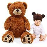 Pink Papaya Riesen-Teddy Charlie, 100cm XXL Plüschbär in Hellbraun – EIN XXL Teddybär zum Liebhaben Toys