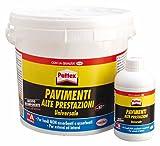 Pattex, 674054, Adesivo poliuretanico bicomponente per incollaggio di pavimenti, 5kg