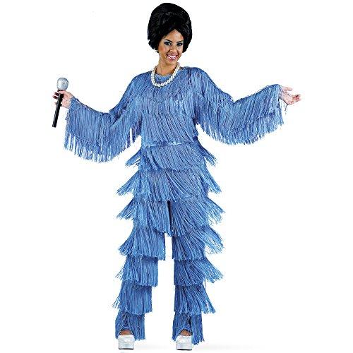 Limit–Kostüm Damen Salome Blau S ()
