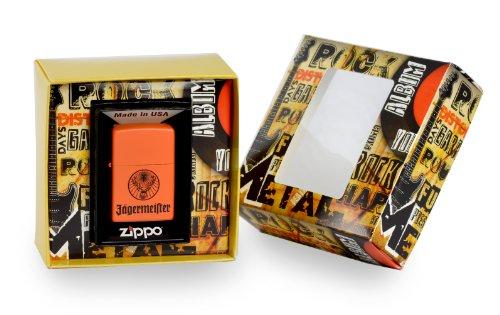 Zippo, Accendino, Premium Gift Set, edizione speciale, motivo: cervo Jägermeister, Argento (Edelstahloptik)