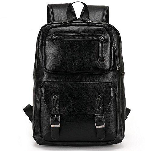 TTYY Outdoor Rucksack Leder Material Reise Freizeit Business School Job Neutral Style