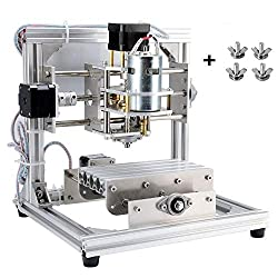 TopDirect CNC Fräsmaschine, Arbeitsbereich: 130*100*40mm, DIY CNC Router Maschine 3 Achsen Mini Holz PCB Acryl Fräsmaschine Metall Gravur Carving Maschine + 3pcs Mill Gravur Bits + 4pcs CNC Platten