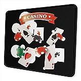 Pearl Bertie Mauspad waschbar - Casino Gambling Mousepad Gaming Non-Slip - Mauspad aus Gummi rechteckig für Computer/Notebook