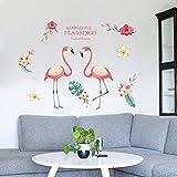 XMX Pink Flamingo Wand Aufkleber Abnehmbare DIY Vinyl Aufkleber für Wohnzimmer Sofa TV Hintergrund Dekorationen Home Art Gorgeous Flamingo