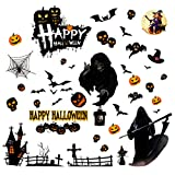 PintreeLand Pegatinas Halloween Ventana 53PCS Stickers Halloween Decoracion para Party Fiesta (Stickers Halloween)