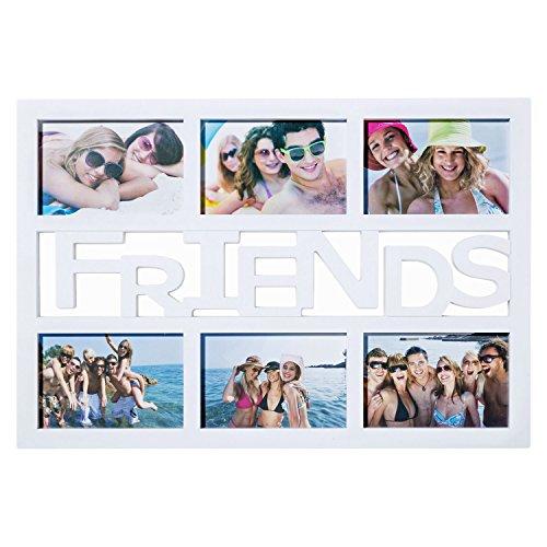 Friends Bilderrahmen Fotorahmen Bildergalerie Foto-Collage Galerierahmen Wechselrahmen Bilderhalter Weiß - 48 x 33 x 2 cm