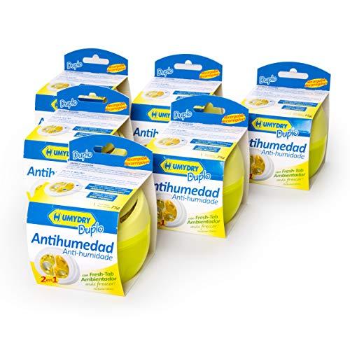 6er-Set HUMYDRY® Duplo 75g Raumentfeuchter Zitrone