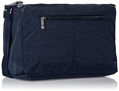 Kipling Damen RETH Umhängetasche Grau (Warm Grey) Blau (True Blue)
