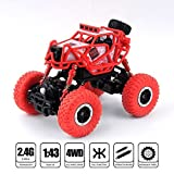 #10: spincart™1:43 Off Road High Speed Racing Remote Control Truck Rock Crawler Monster Truck With LED Light 2.4Ghz New Model