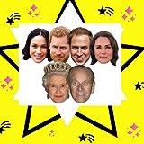 Star découpes Smp369Lot de 6masques de Royal Couples Comprend Prince Harry, Meghan Markle, Prince Philippe, The Queen, Prince William et Kate la Duchesse de Cambridge, à la main/A