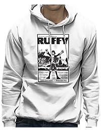 Ruffy Balboa One Piece Rocky Poster Monkey D Pirate King Men's Hooded Sweatshirt