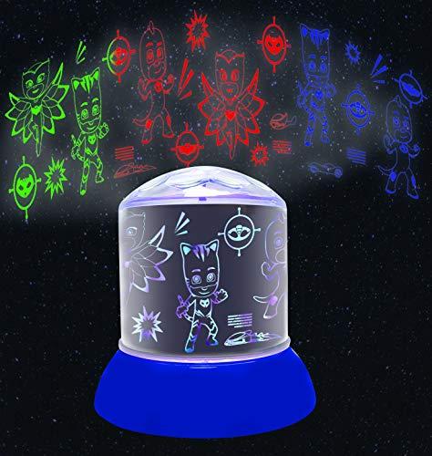 PJ Mask- PJ Masks Luz de Noche, quitamiedos de los Pijamasks (NL030PJM), Color Azul (Lexibook NLJ030PJM)