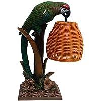 CKH Vintage Table Lamp American Bedroom Bed Warm LED Warm Light Creative Parrot Animal Lamp European