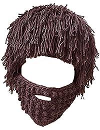 Baosity Cap Capellini da Caldo Inverno Cappelli A Barba Sci Berretti per  Donna Uomo 6177e2132d98